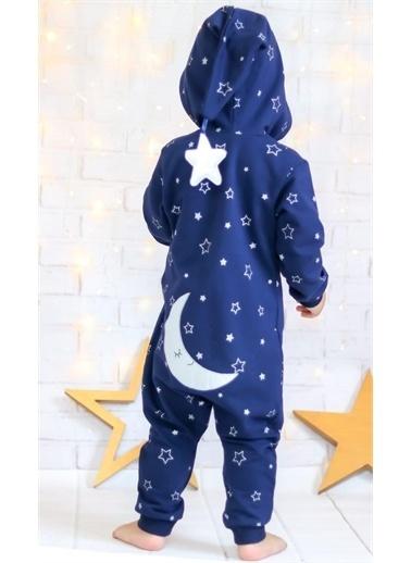 Riccotarz Unisex Bebek Star Nights Beyaz Yıldızlı Tulum Renkli